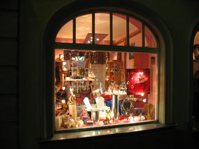 Schaufenster, Nacht